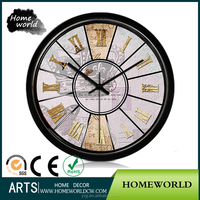 Automatic round wall mounted calendar metal wall clock