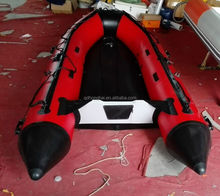 3.3m red Inflatable Boat 6 person paddles With Aluminum Floor for summer leisure
