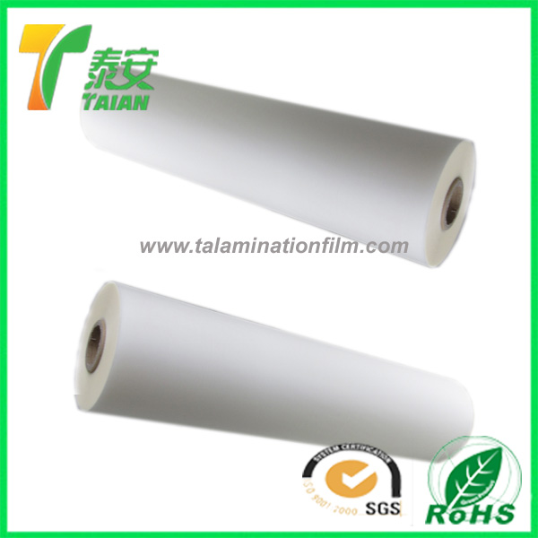 cover heat seal film roll, colored thermal lamination bopp glossy film for uv printing