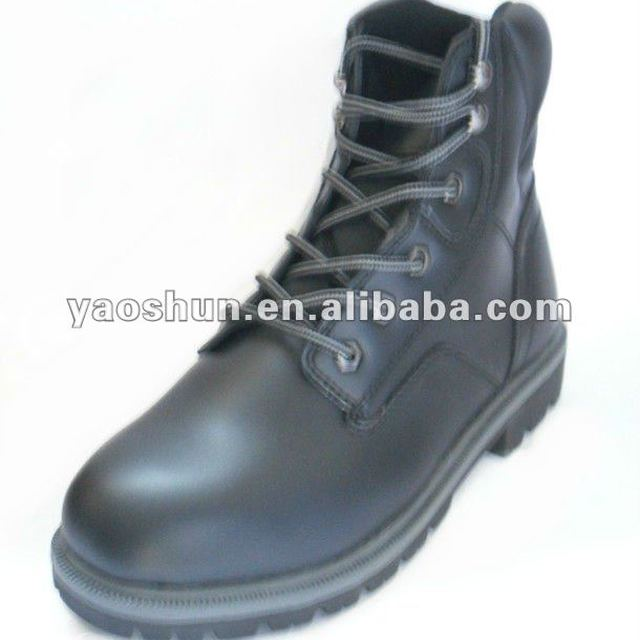 Men's 6'' PVC Leather Cheap Steel Toe Safety Boot