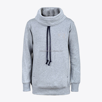 Custom fit wholesale plain black hoodie made in China