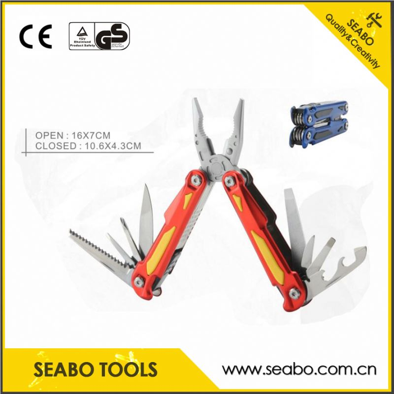 Aluminum handle multi-functional castration pliers with wooden handle