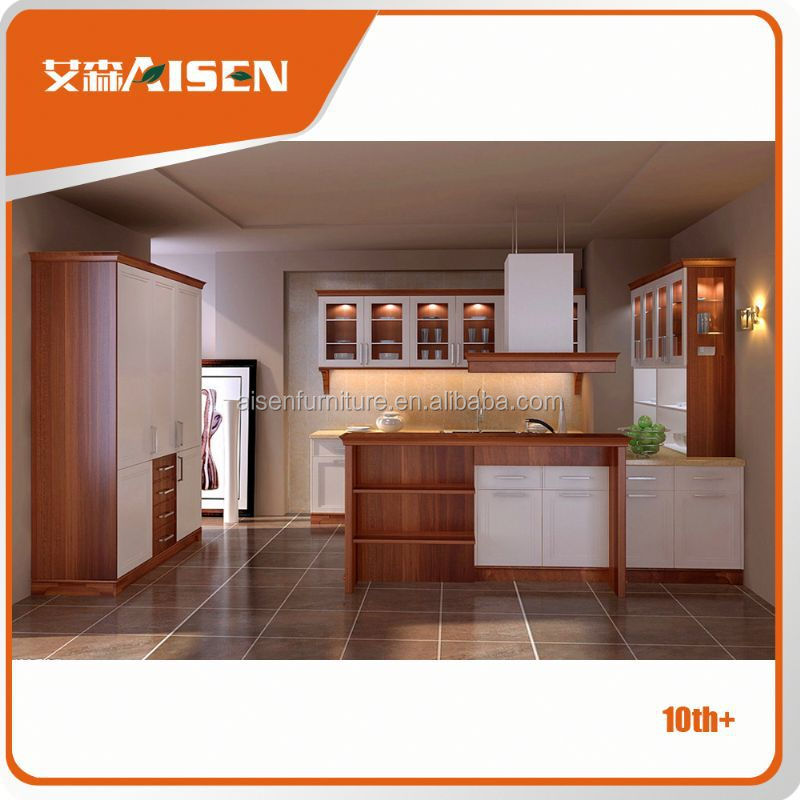 Hot selling factory directly natural root wood kitchen furniture