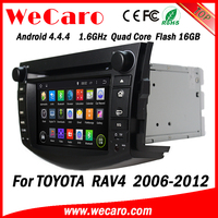 Wecaro Android 4.4.4 car dvd player double din gps car dvd for toyota rav4 16GB Flash 2006 - 2012