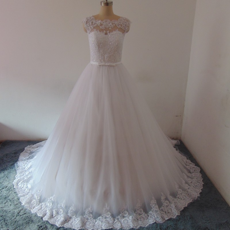 FA41 Vestido de noiva Real Photo Wedding Dress Bridal Gown Lace Appliqued Luxury Wedding Gowns Cheap Vintage Wedding Dress China