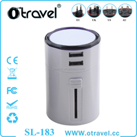 Otravel Universal Travel adapter ac Power Adaptor 2 Usb 110v 220v AC DC battery Charger