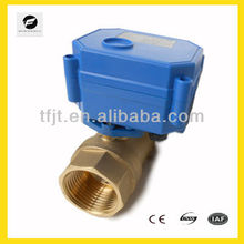 12v brass motorized ball valve with fail safe function for Water,Irrigation system,cooling/heating system