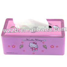 Factory Directly Provide Carton Metal Tin Tissue Metal Box