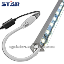 White Color DC12V 72led/m 18w Waterproof Aluminum profile Aquarium LED Rigid strip light Bar