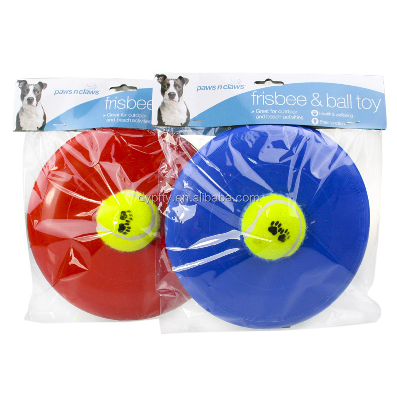 fashion design custom dog frisbee with ball