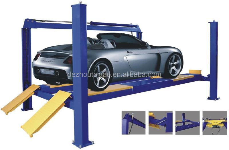 2018 new 4 post car lift \ 4 ton loading capacity