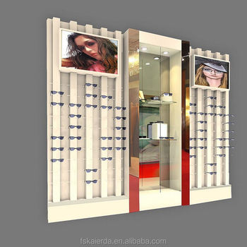 Fashion wall mount hanging eyeglass display and frame displays