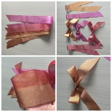 high quality decorations pink metallic glitter tape ribbon bow. double face shiny.