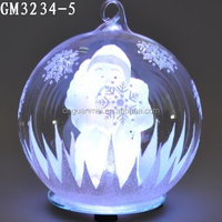 Outdoor Hanging LED Light Christmas Decorative Glass Snow Ball for Sale