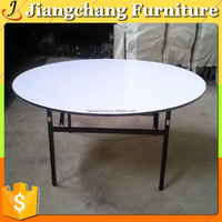 Folding Plywood Oval Hotel Banquet Table For Sale