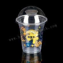 transparent 12oz disposable plastic cups
