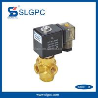 Brass material high quality 2 position 3 way solenoid valve 12v water valve SLGPC-VX3121-08