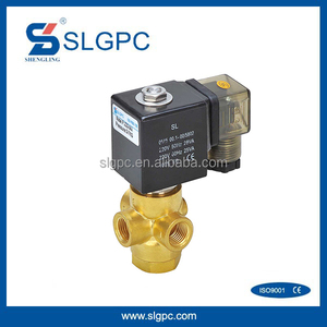 Brass material high quality 2 position 3 way solenoid valve 12v water valve SLGPC-VX3121-08