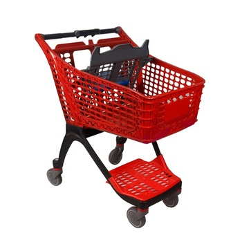 100l supermarket shopping trolley all plastic shopping trolley
