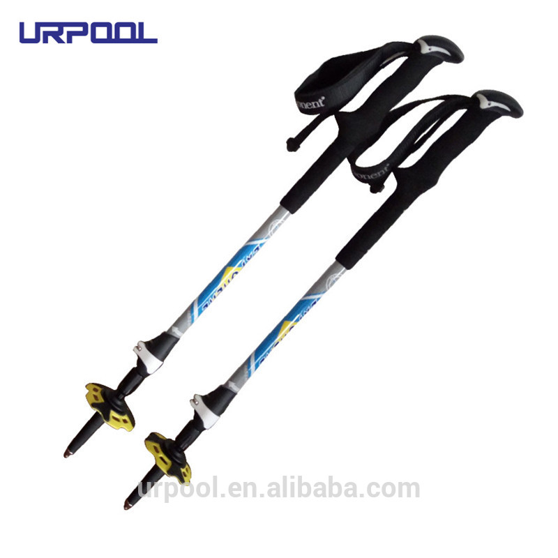 3 section trekking pole trekking poles with cork handle walking hiking stick