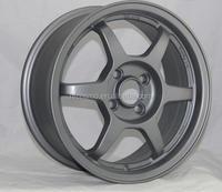 Matte black machined face aluminum wheels/alloy wheel rim/replica wheel rim
