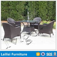 Jepara Indonesia garden furniture rattan dining table and chairs