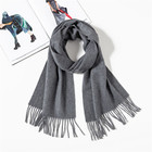 High Quality Hot Selling Plain Color 100% Cashmere Scarf For Winter