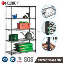 5 Tiers Epoxy Heavy Duty Balcony Metal Shelves/Metal Display Rack DIY Style With NSF Approval