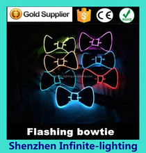 hot sale cheap new year's gift/ bow tie light up in the dark/ Light Up Bow Tie Girl Fashion