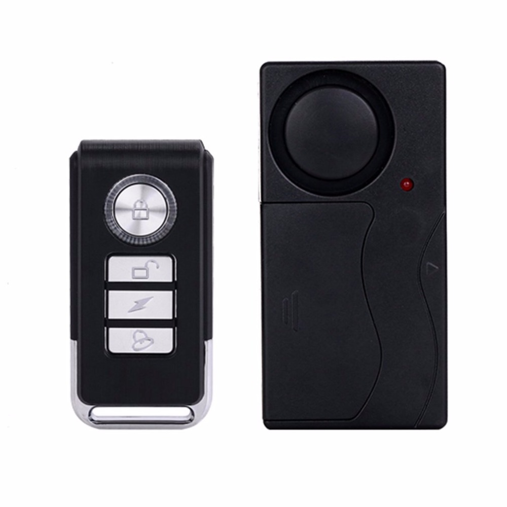 Remote control Vibrate Detector Shake Shock Quake Sensor Burglar Security <strong>Alarm</strong> for Window Door Car Motor Bike