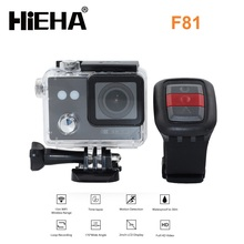 Hieha Hot selling wifi action camera F80 2.0 LED 1080p HD 30M Waterproof sport camera xdv plus remoter