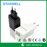 FCC CE approved USB travel charger US/EU plug universal power adapter