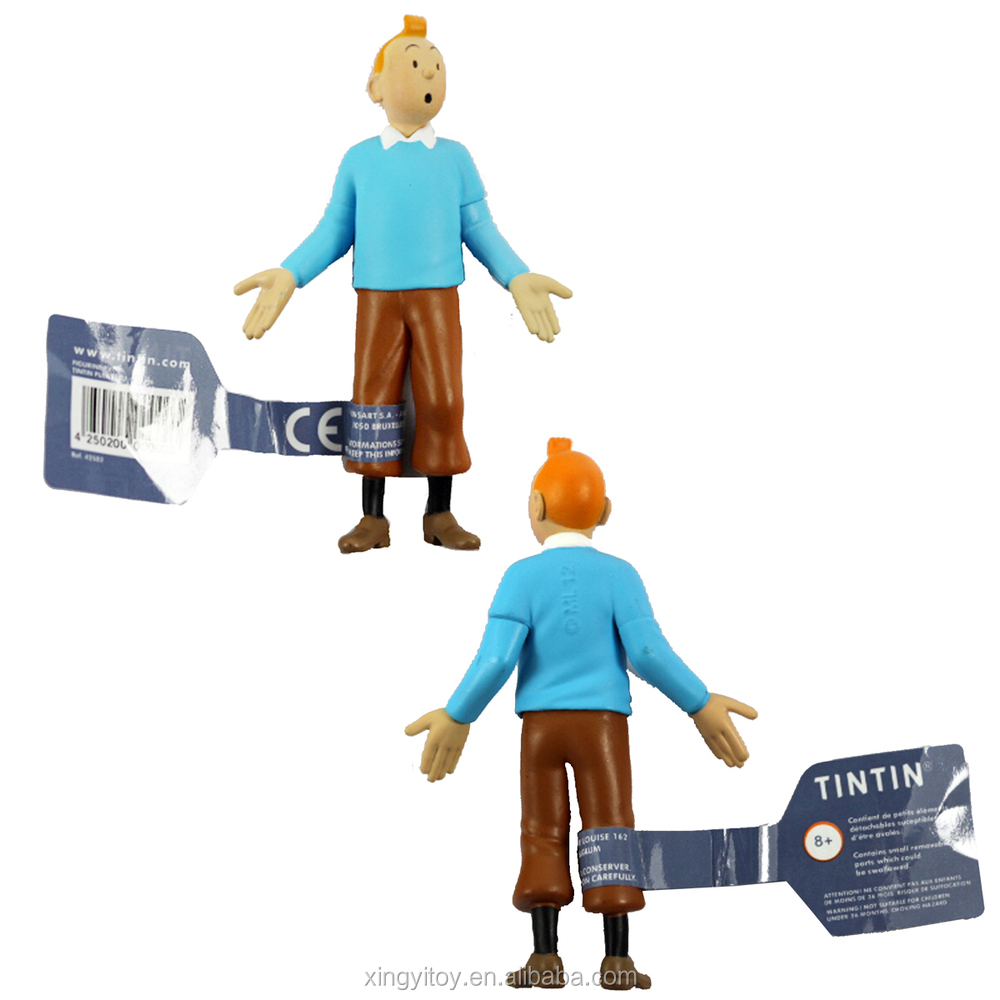 "6pcs Set The Adventures of Tintins Tintin Professeur Tournesol 1.6""-3.5"" Toy Action figure"