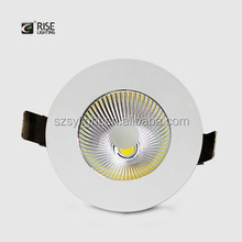 White Black Housing 90mm Cutout Size Dimmable LED Downlight with Unique Reflector and Lens