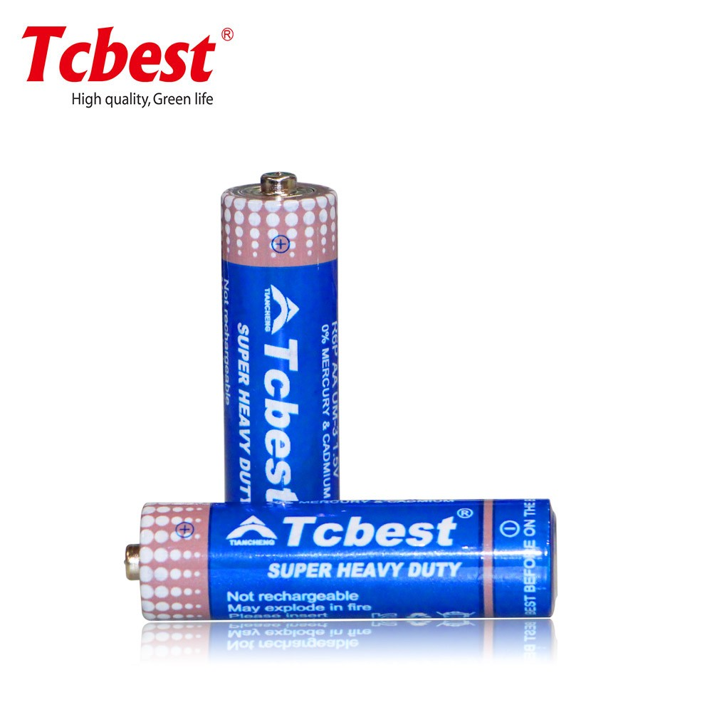 Dry Cell R6P 1.5V AA SUM3 Carbon Zinc Battery with blister card