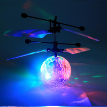 New trending mini magic flashing light ball aircraft toys sensor flying helicopter popular flying toys helicopter
