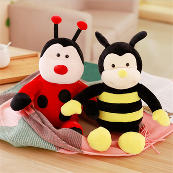 2017 Custom plush beetle insect toy bee stuffed plush toy