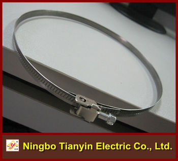 italy type no perforated band quick installed hose clamp