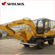 China Made 8T Mini Wheel Hydraulic Excavator DLS880-9A for Sale