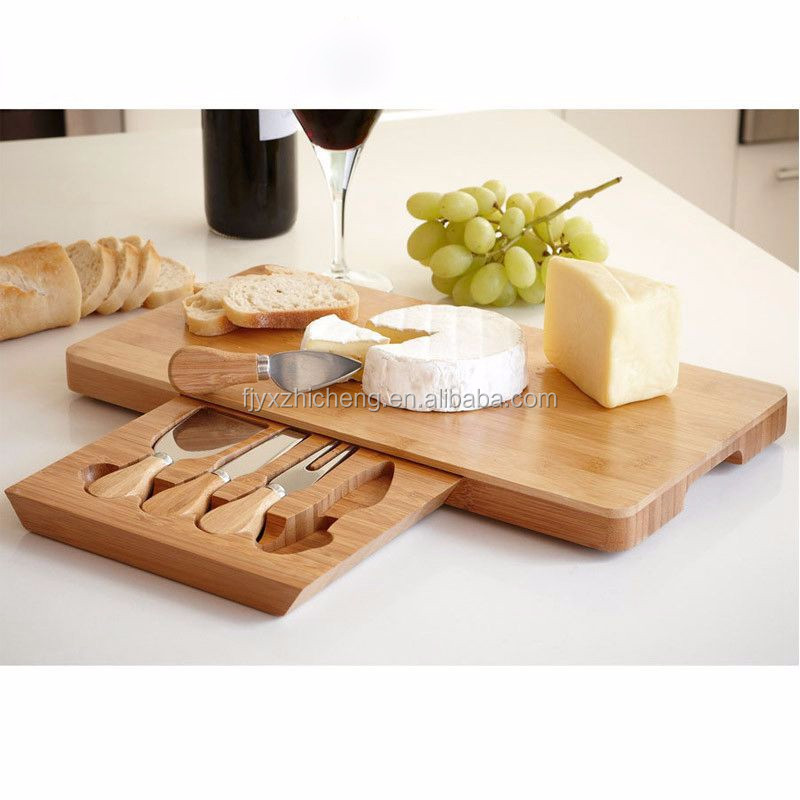wholesale bamboo cutting board with knifes set high quality bamboo, Kitchen design