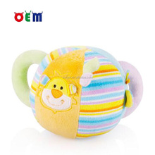 Lovely Soft Plush Baby Toy Colorful Plush Baby Game Ball Toys