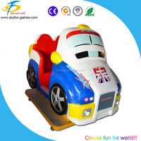 MP4 kids coin operated game machine Italy racing kiddie ride with real LCD game