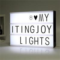 A4 Cinema Light Box Letters Changeable