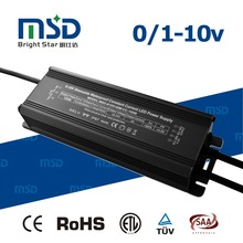 Waterproof led driver 0-10v pwm dimming 100w led transformer with ce saa rohs approved
