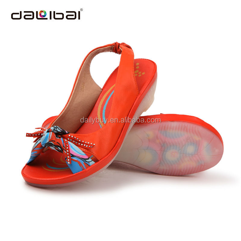 2016 factory price ladies flat cheap women handmade leather sandals