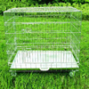 zinc coated foldable wire dog cage pet crate with wheels