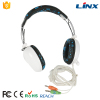 China wholesale computer accessories headphone with 2 plugs
