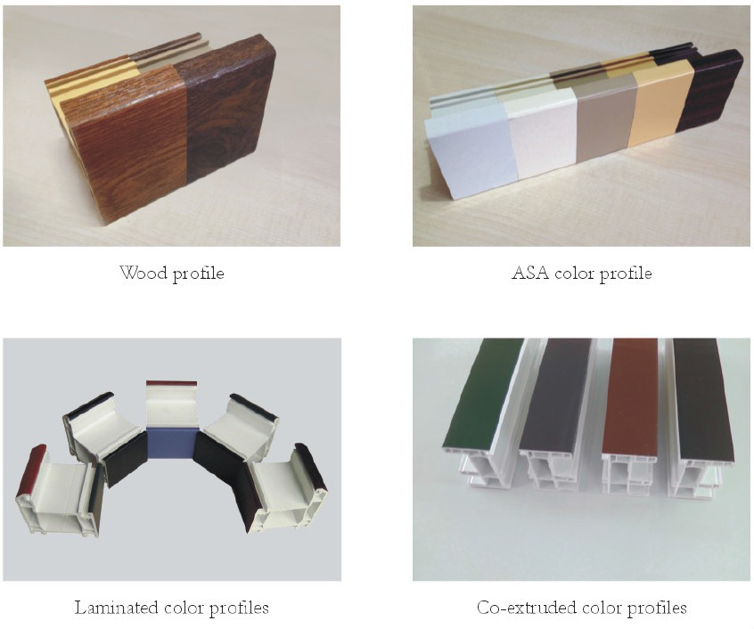 Lanke factory pvc plastic double glazd glass commercial window frames