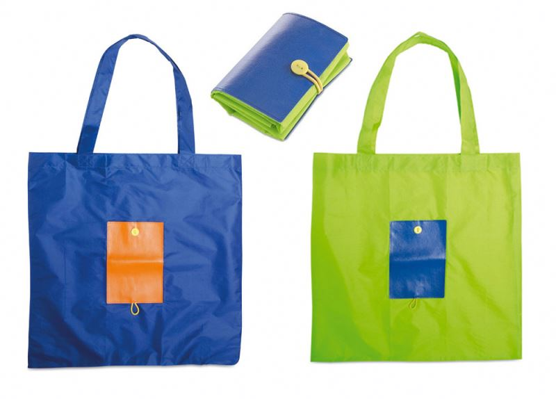 Cheap Polyester Shopping Totes With Square Pouch