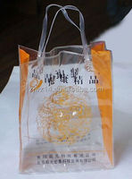 cheap fashion custom transparent clear cool ice bag pvc bag for wine